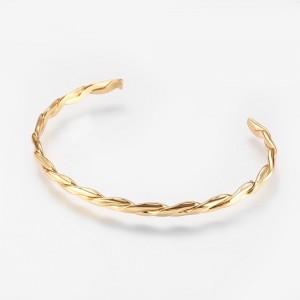 Bratara Twisted Cuff Bangle placata cu aur