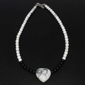 Colier Howlite Heart