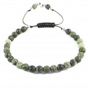 Bratara Delisee, pietre naturale Green Lace Jasper